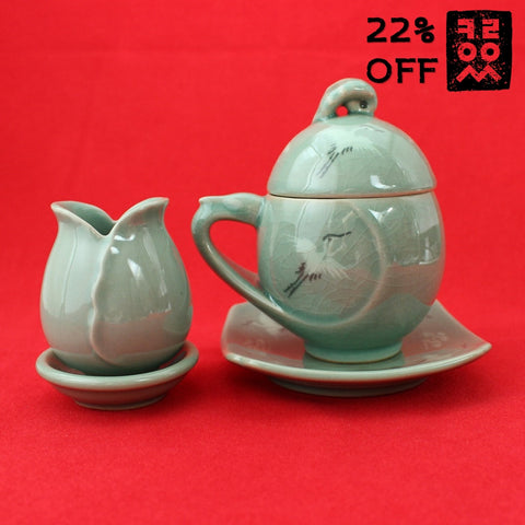 Korean_Traditional_Porcelain_Tea_set_for_one_5pcs_Pottery_Crane_Kitchenware_Teacup_Green_Tea_Home_Decor_Oriental_Gift_and_Souvenir_Collectible_Korean_Essentials