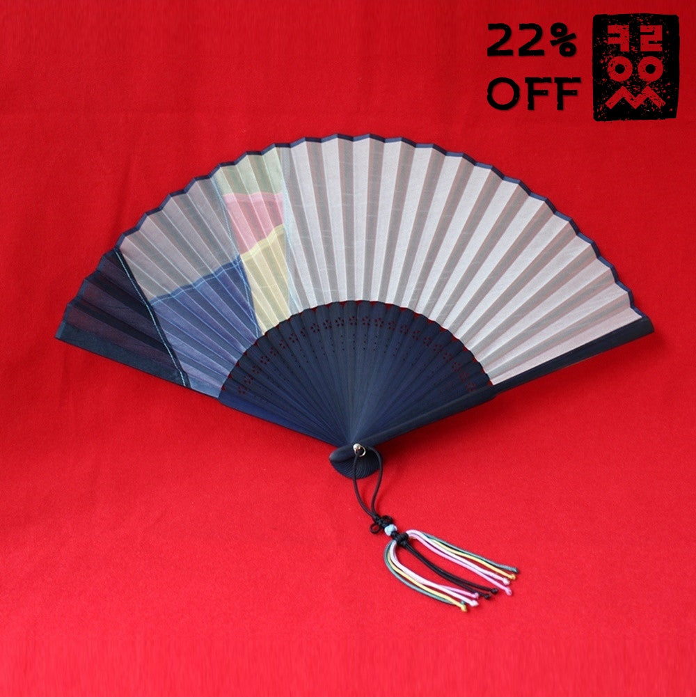 Patchwork_Jogakbo_Fan_Folding-type_Blue_Accessory_In_the_Bag_Gift_and_Souvenir_Korean_Essentials