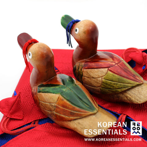 Hand-carved Wedding Duck: Saekdong Goose