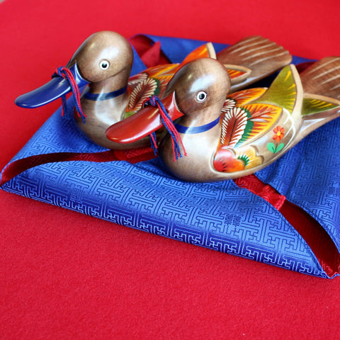 Hand-carved Wedding Duck