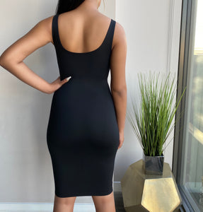 Bella Bodycon Dress - Black