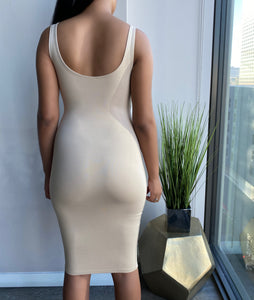 Bella Bodycon Dress - Taupe