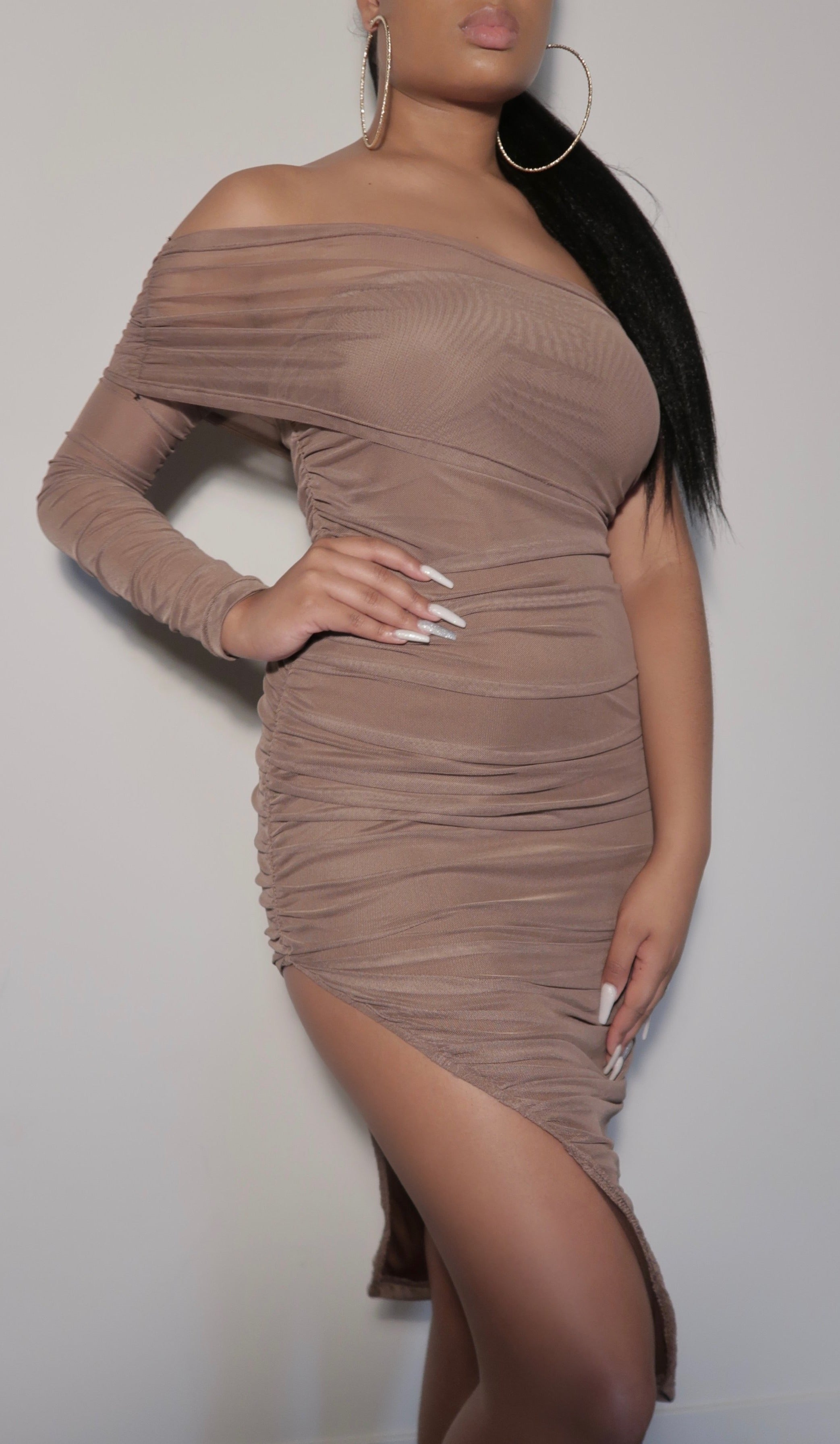 Isabel Bodycon Asymmetric Dress