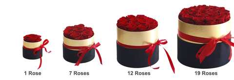 Luxury Rose Bouquet Box with Golden Ribbon