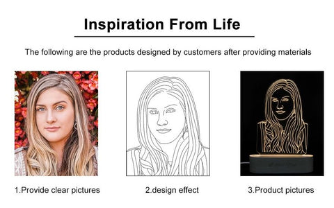 Personalised Engraved Photo Light - Image Process