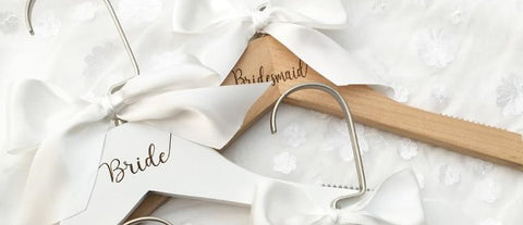 Personalised Wooden Wedding Coat Hangers - Bride and Bridesmaid