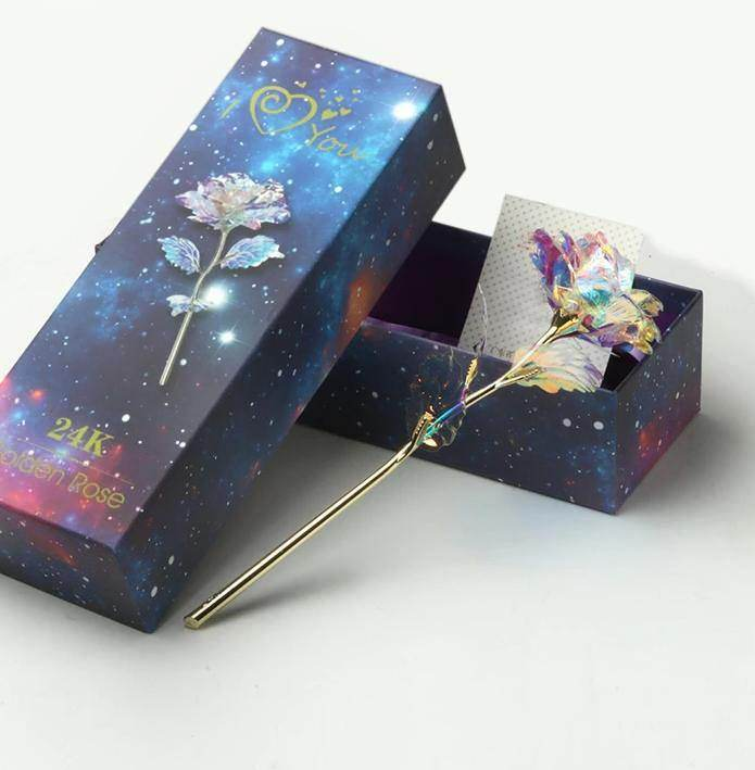 Galaxy Rose & Gift Box | Love Lasts Forever - Love By Letterbox