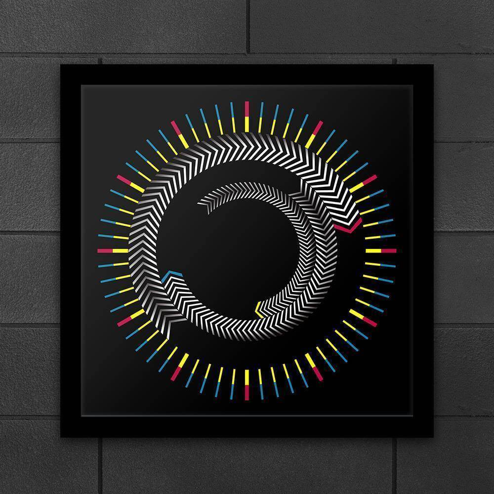 Abstract Wall/Desktop Clock
