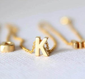 Small Gold Initial Necklace - Love By Letterbox