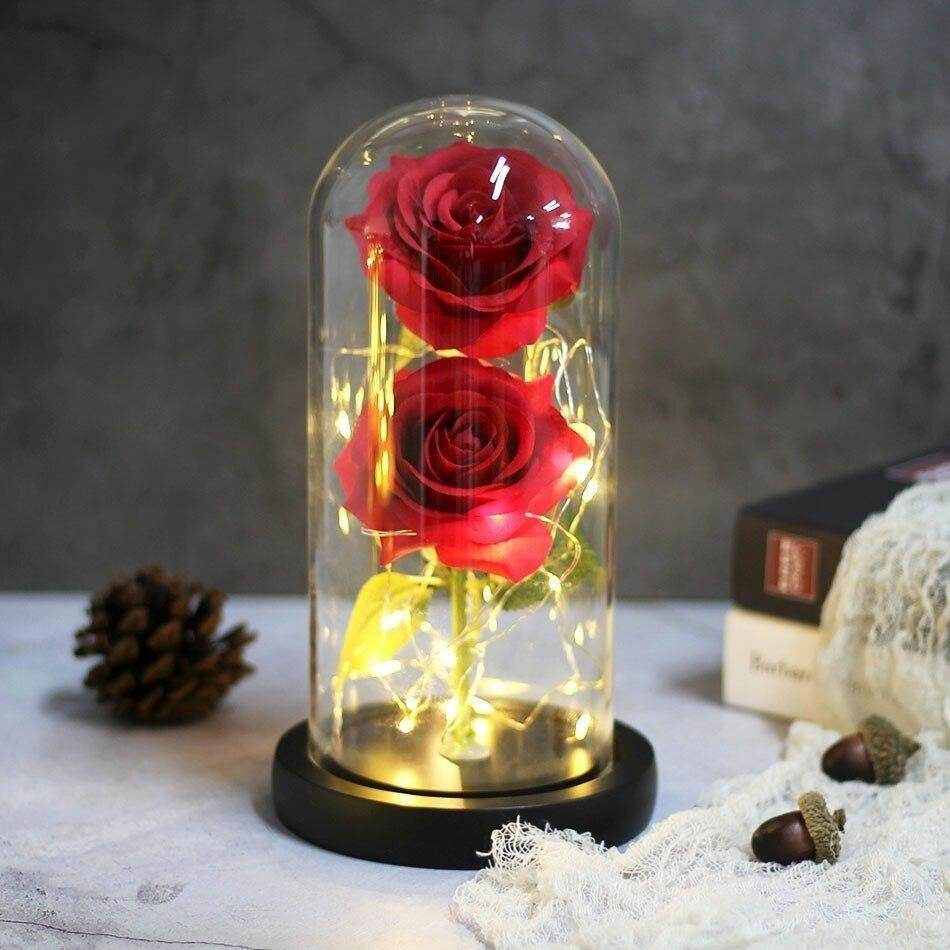 Double Rose Eternal Enchanted Rose | Couple Rose