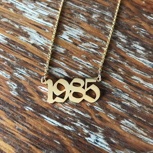 Gold Birth-Year Necklace