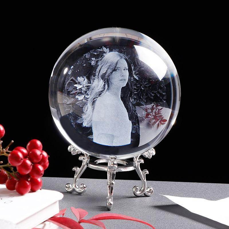Personalised Photo Crystal Ball - Love By Letterbox