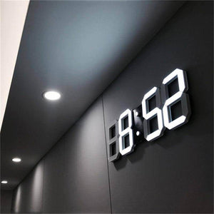 Large Modern 3D Digital LED Wall Clock - Love By Letterbox