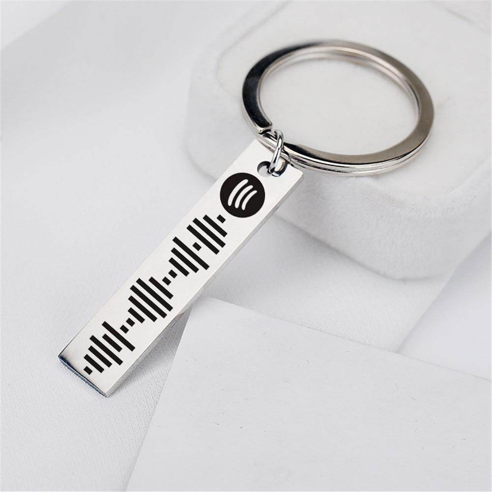 Personalised Spotify Music Keyring - Love By Letterbox