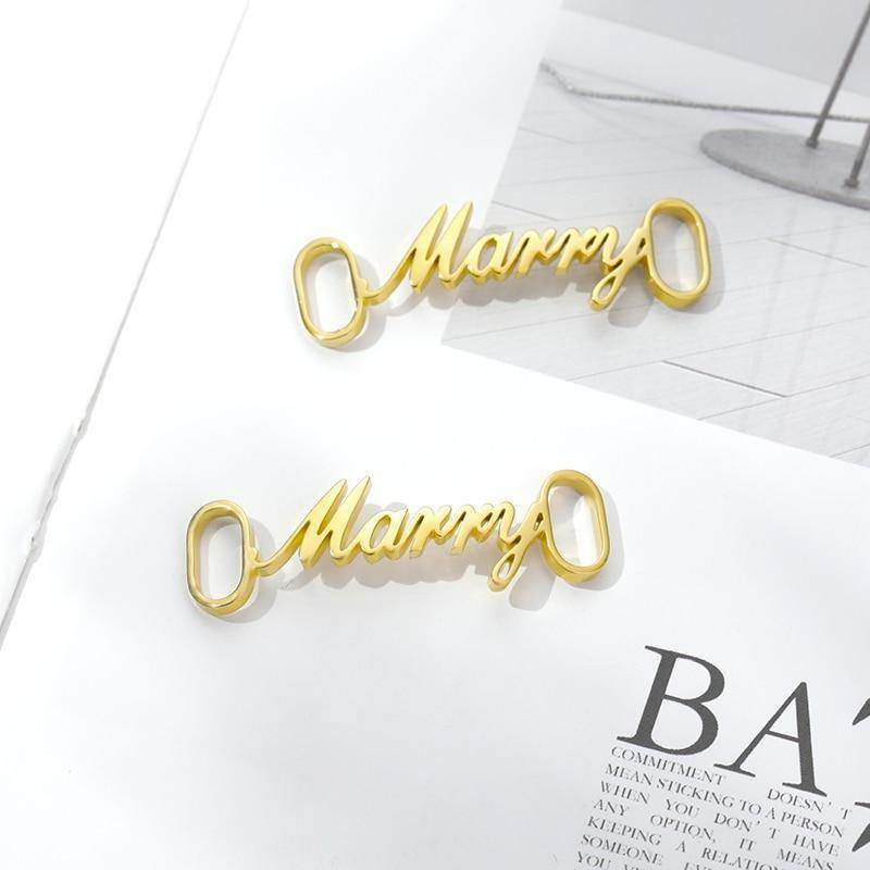 Personalised Name Shoe Buckle | Shoelace Tag - Love By Letterbox