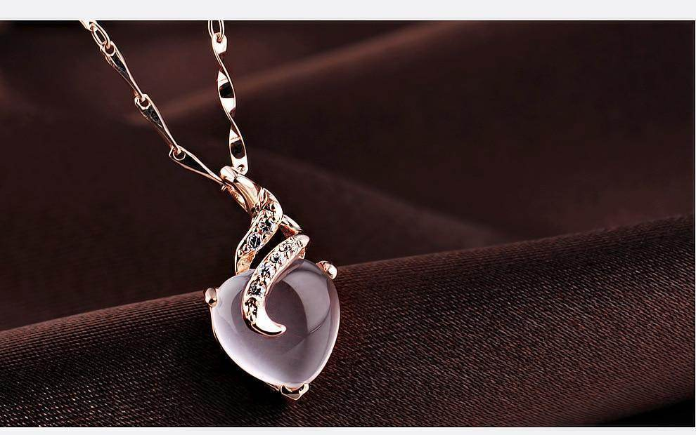 Heart Opal Necklace-Love By Letterbox