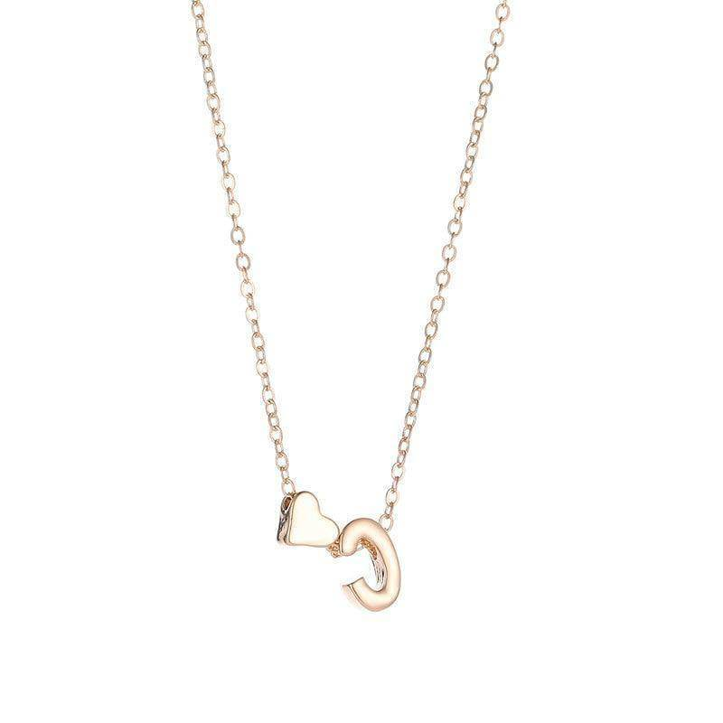 Personalised Tiny Heart Dainty Initial Necklace