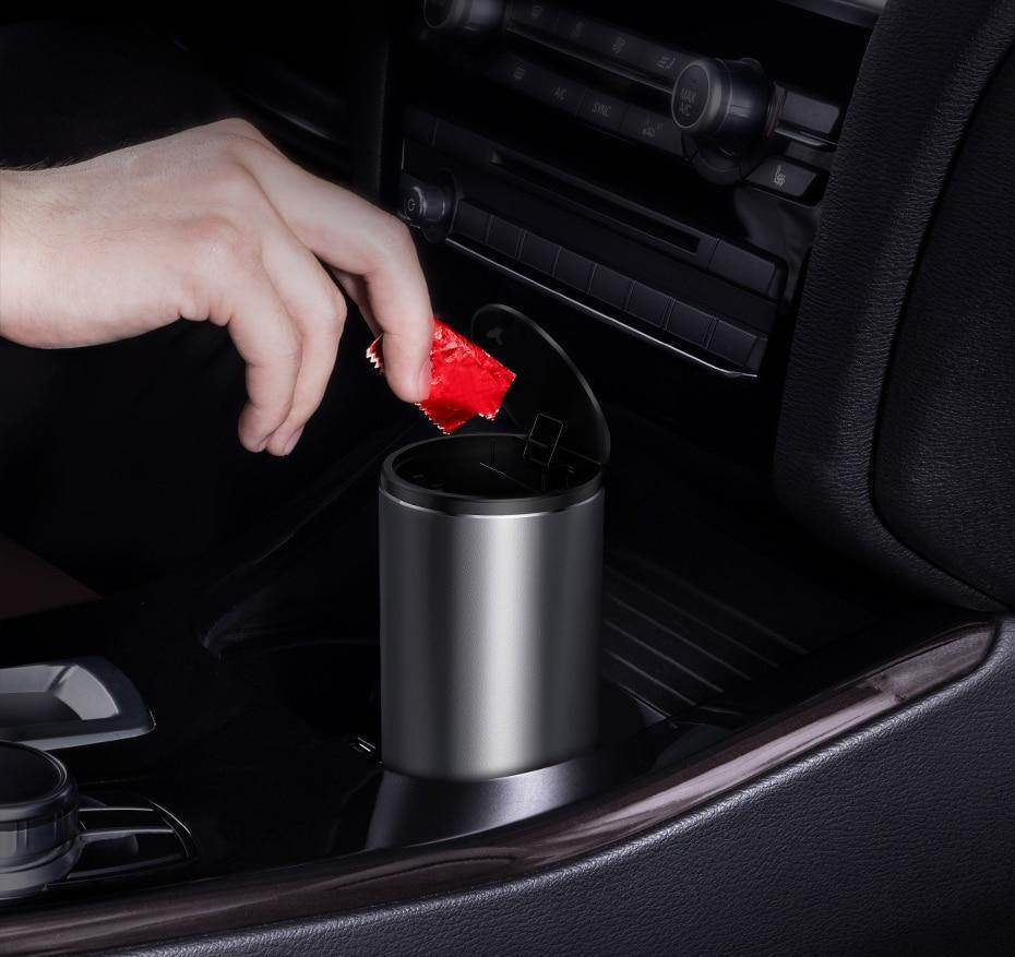 Car Rubbish Bin - Stainless Steel Capsule-Love By Letterbox