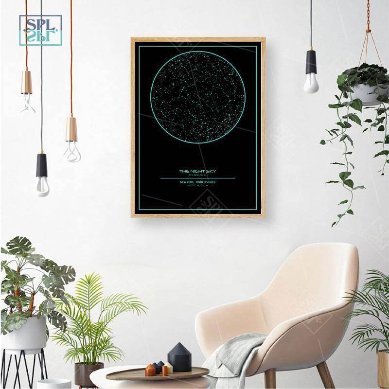 Personalised Map of Stars - A Moment in Time - Love By Letterbox