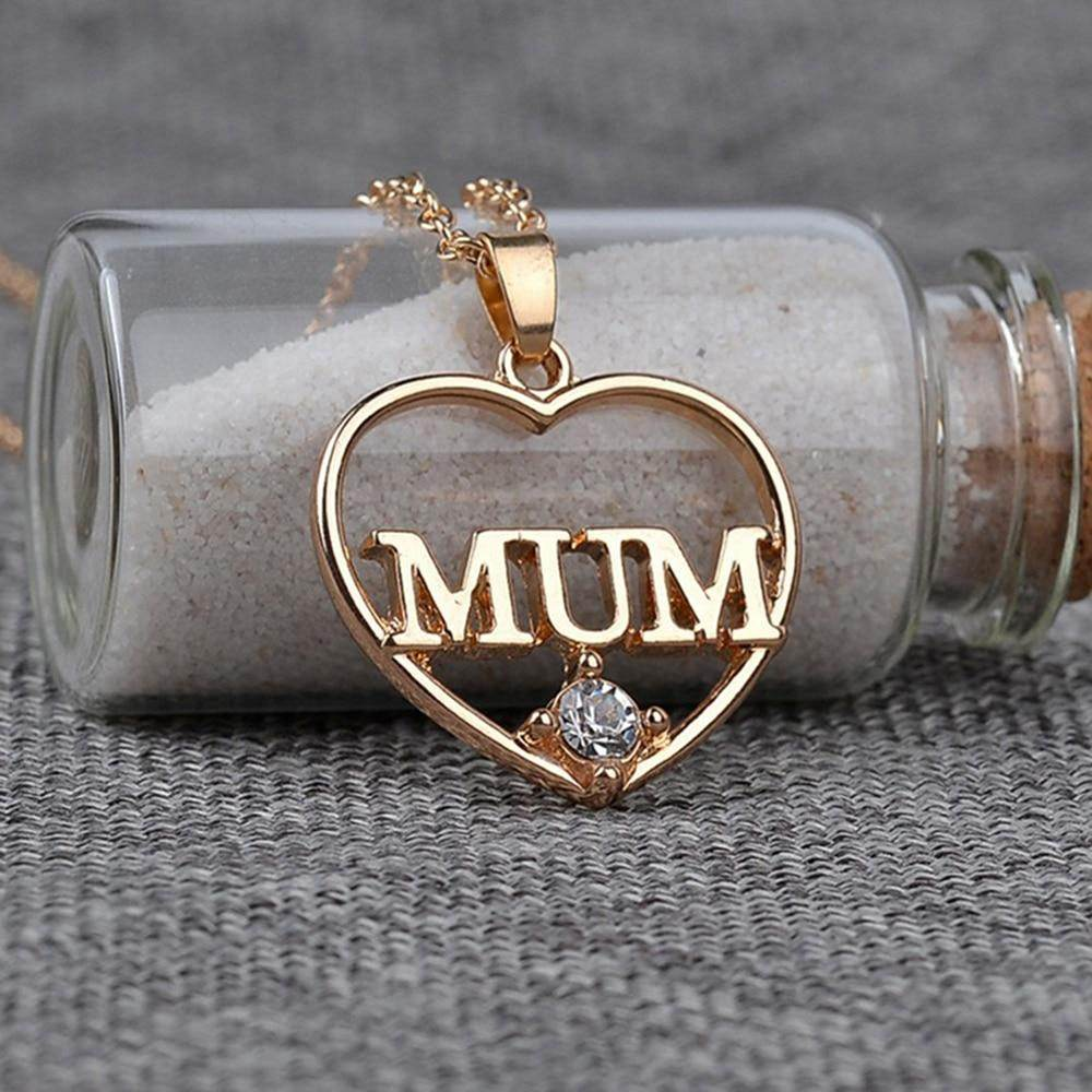 Mothers Day Heart Crystal Necklace-Love By Letterbox
