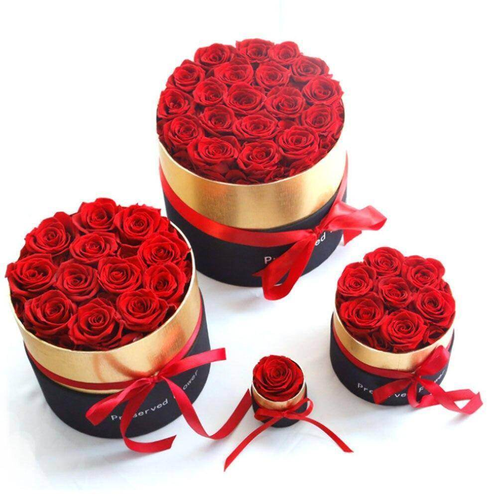 Luxury Rose Bouquet Box with Golden Edge