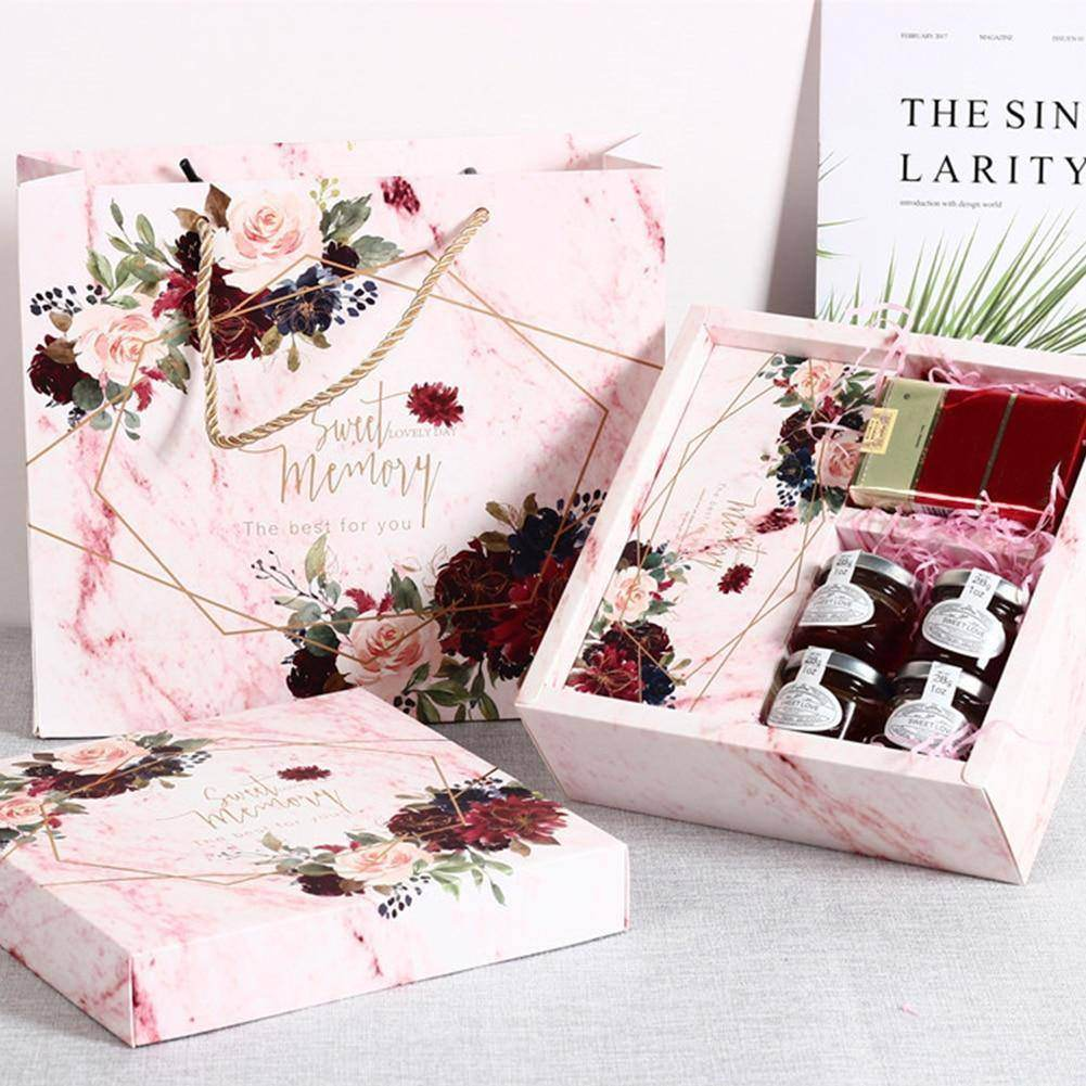 Proposal Flower Pattern Box Wedding Bridesmaid With Gift Box