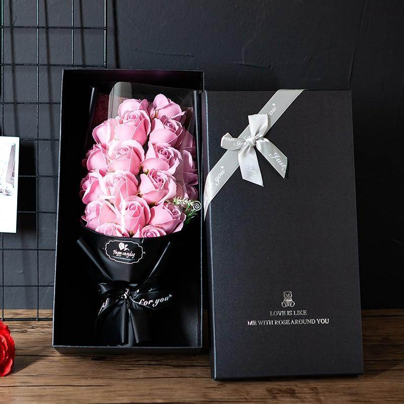 Tall Preserved Roses in Gift Box-Love By Letterbox