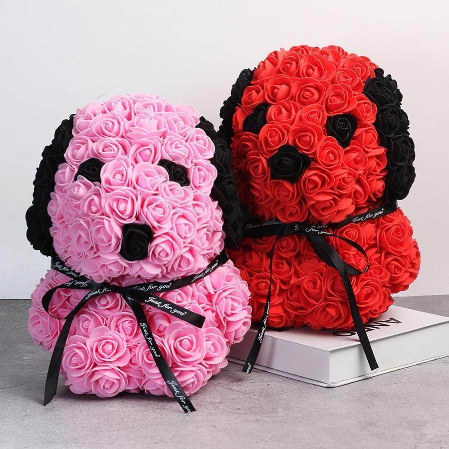 25cm Rose Dog - Sitting-Love By Letterbox
