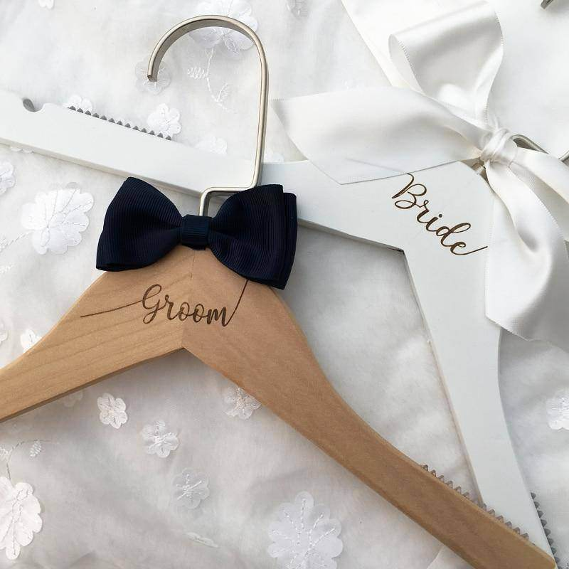 Personalised Wooden Wedding Coat Hangers - Love By Letterbox