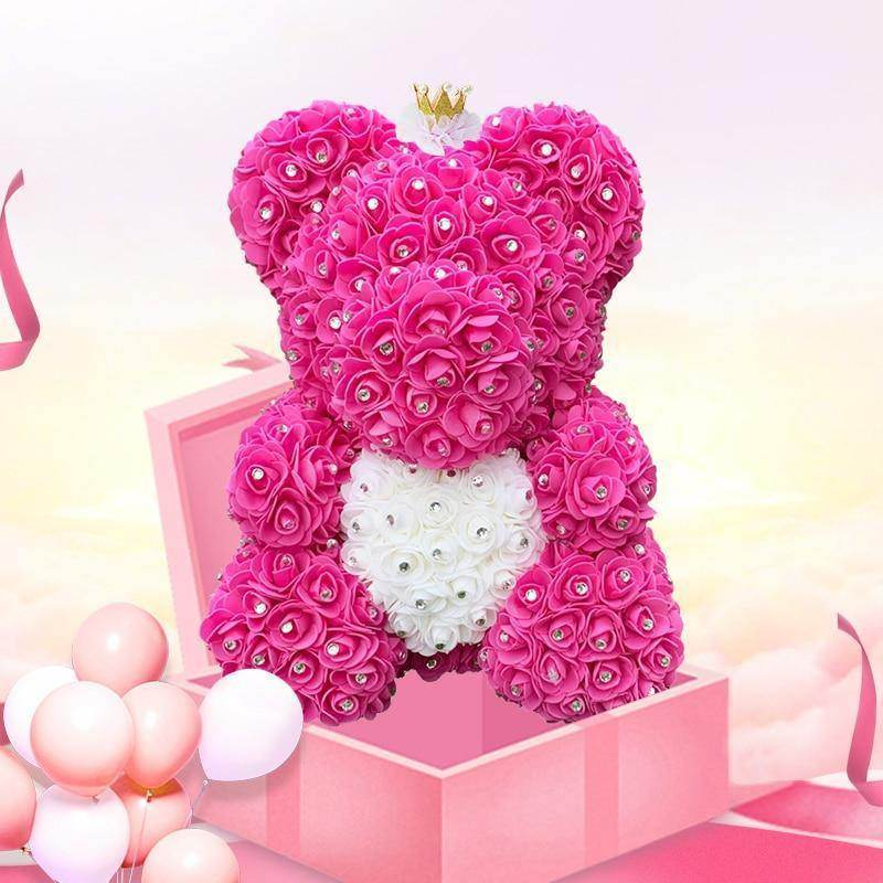 Diamond Rose Bear 25/40cm