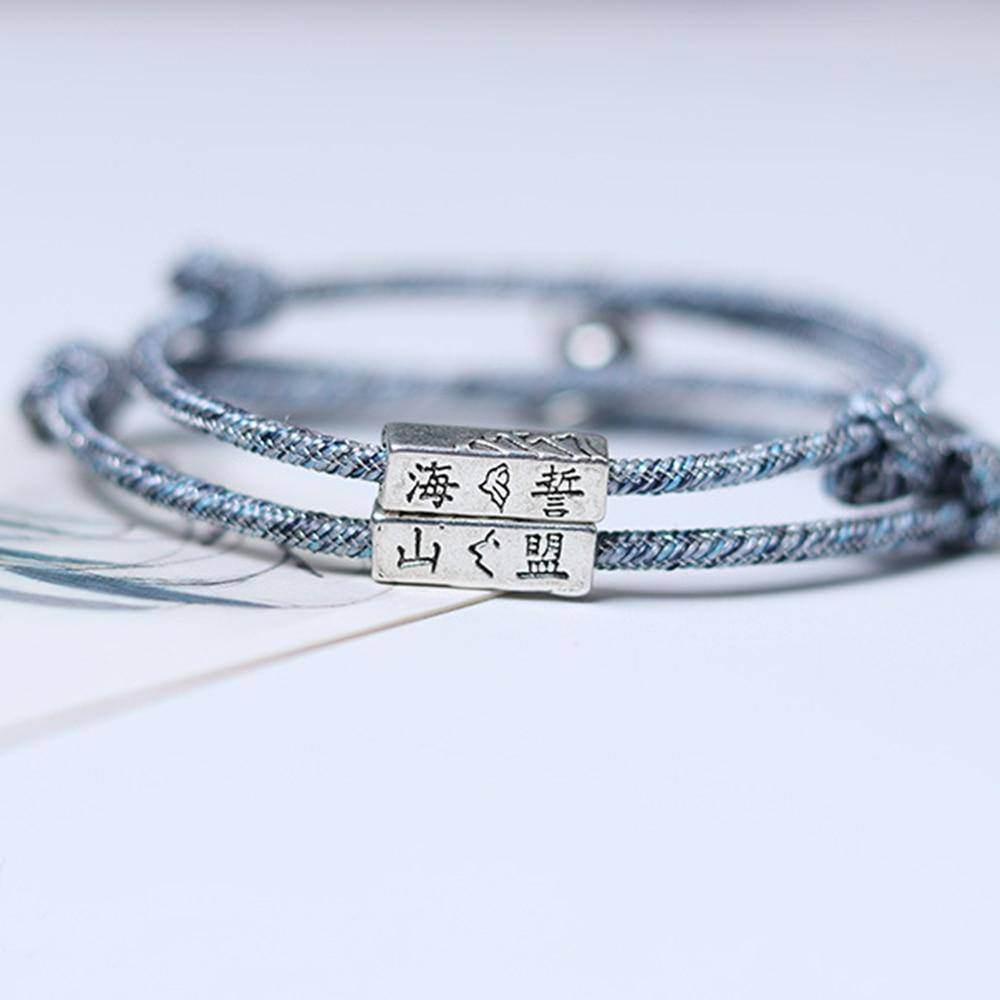Rope Couple/Friendship Magnetic Bracelet Set - Love By Letterbox