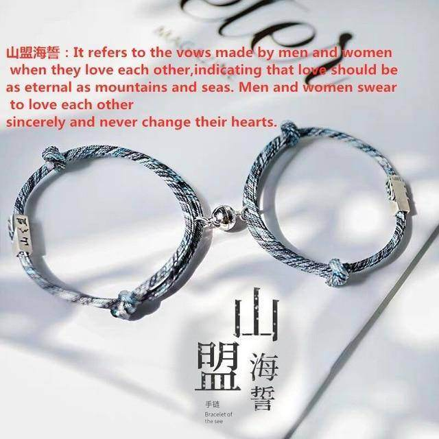 Rope Couple/Friendship Magnetic Bracelet Set