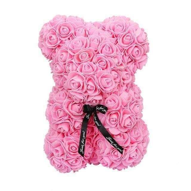 25cm Romantic Rose Bear With Gift Box