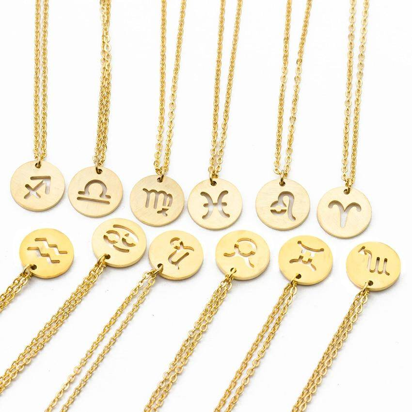 Highly Romantic Star Zodiac Sign Necklace - Stainless Steel-Love By Letterbox