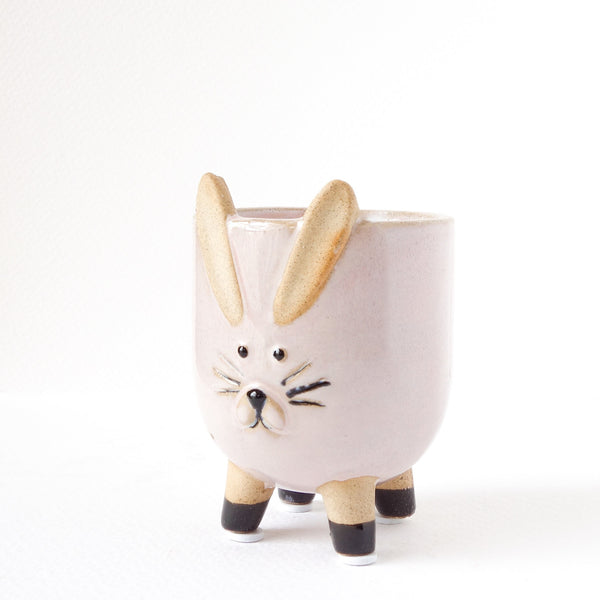 Mini Rabbit Planter in Pink