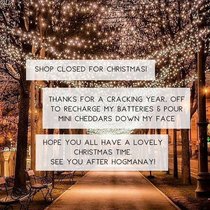Shop Closed for Christmas