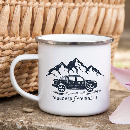 Discover Yourself - Enamel Mug - Sovende Bjorn