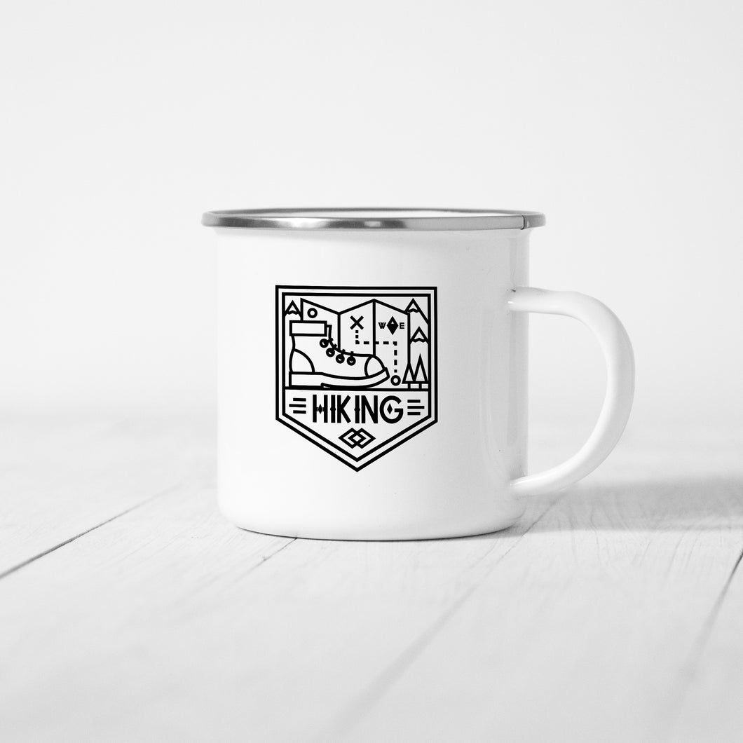 Hiking - Enamel Mug - Sovende Bjorn