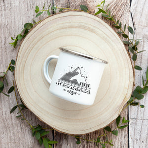 Let New Adventures Begin - Enamel Mug - Sovende Bjorn
