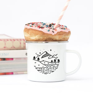 Mountains & Lakes - Enamel Mug