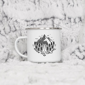 Let me show you the way - Enamel Mug - Sovende Bjorn