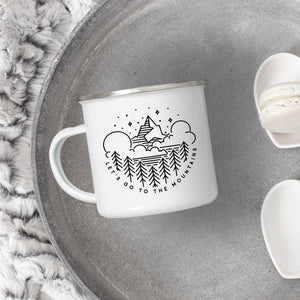 Let's go to the mountains - Enamel Mug - Sovende Bjorn
