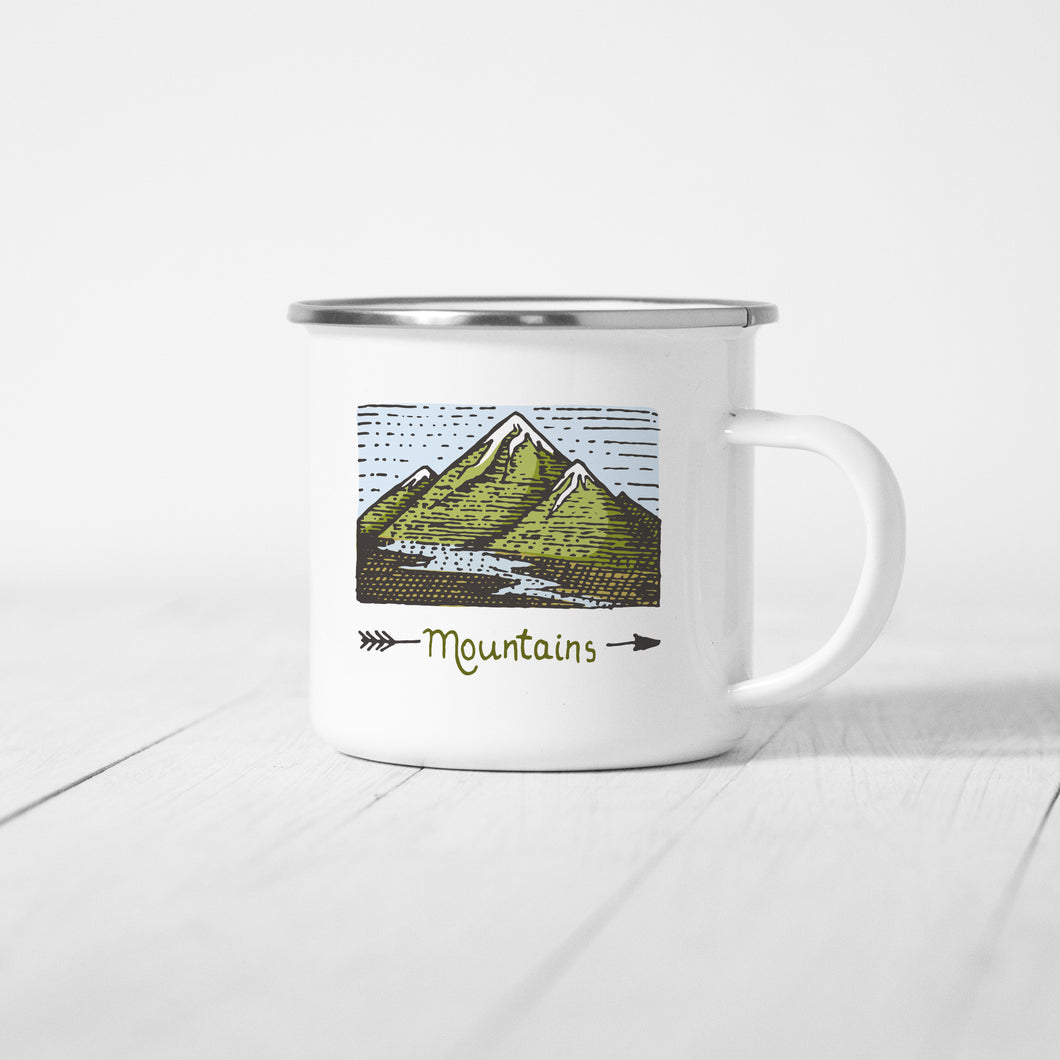 Mountain - Enamel Mug - Sovende Bjorn