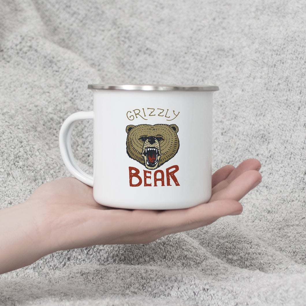 Grizzly Bear - Enamel Mug - Sovende Bjorn
