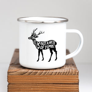 Getting lost is not a waste of time - Enamel Mug - Sovende Bjorn