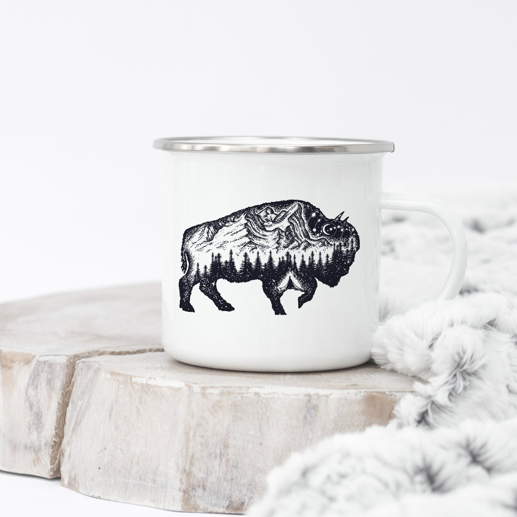 Buffalo of the Mountains - Enamel Mug