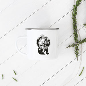 Wolf of the Mountains - Enamel Mug - Sovende Bjorn