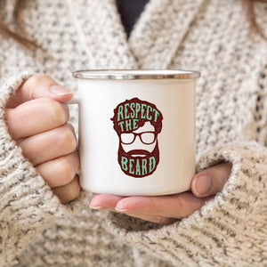 Respect the Beard - Enamel Mug - Sovende Bjorn