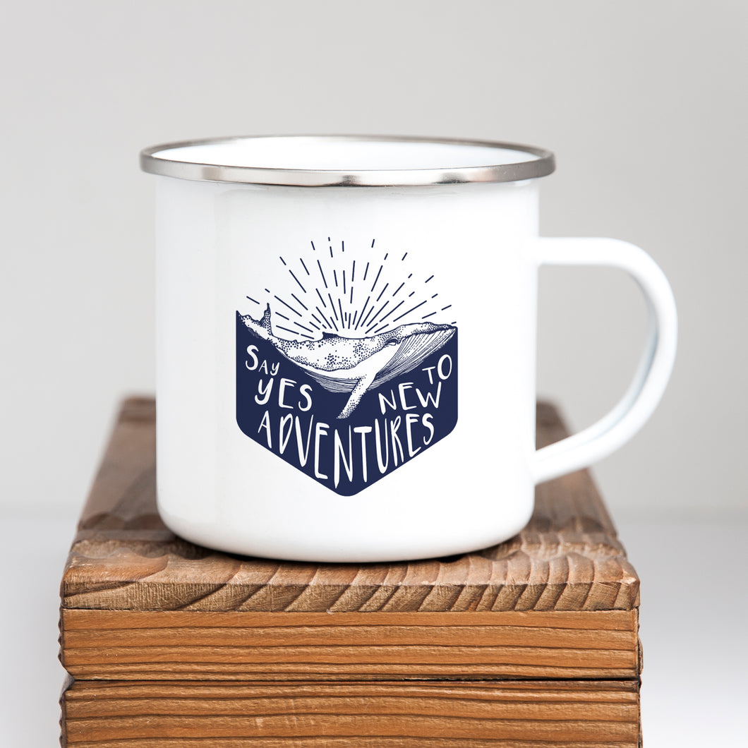 Say yes to new adventures - Enamel Mug - Sovende Bjorn