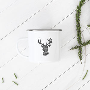 Collect moments not things - Enamel Mug - Sovende Bjorn